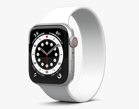 Apple Watch Series 6 44mm Aluminum Silver 3D