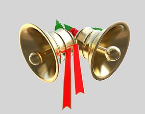 low-poly Xmas bells 3D model