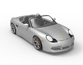 2003 Porsche Boxster 3D road