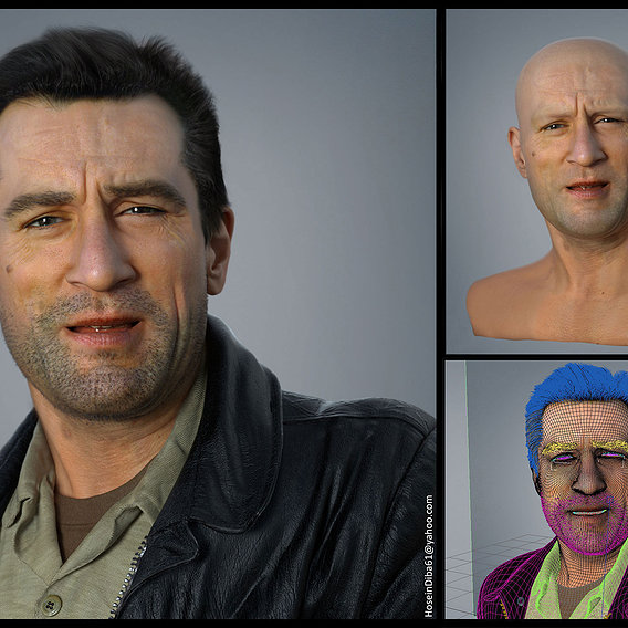 3D Portrait of Robert De niro