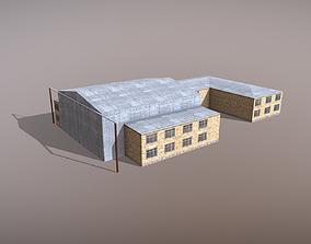 3D model Airport Hangar OAKB ATB Hangar