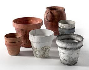 3D Old Pots Set