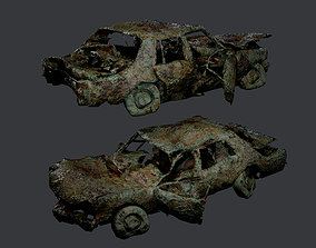 3D asset Apocalyptic Damaged Destroyed 5