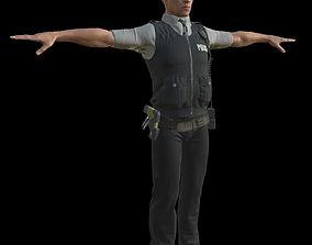 3D model police 2