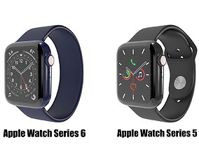 Apple Watch Series 5 and Series 6 3D model