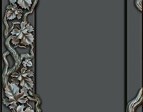 3D Decorative frame with grape leaves
