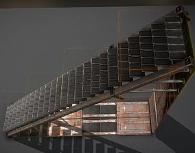 Sci-Fi Stairs Collection Rusty and Basic Version 3D model