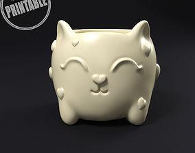 Cat plant pot decor 3D printable model