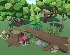 LowPoly Forest Pack 3D asset
