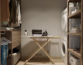 3D model drying Laundry