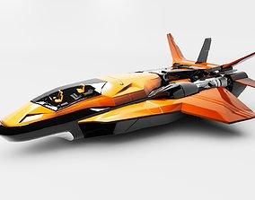 3D model Venom X Spaceship