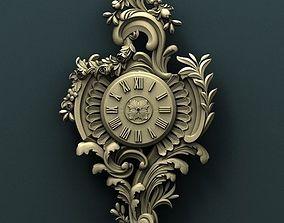 panno Wall clock 3d stl model for cnc