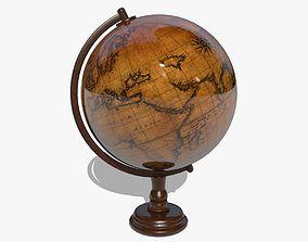 3D model Globe latitude