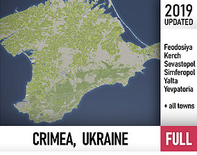3D model Crimea - Ukraine - full region