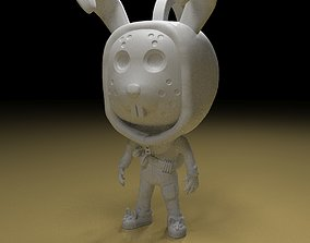 3D print model Rabbit raider keychain