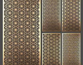 Decorative panel set 35 3D