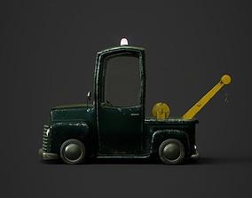 Stylized Cartoon Tow Truck 3D model