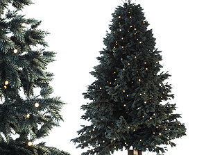 Christmas tree with gifts 3D PBR