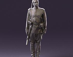 000008 man in soldier uniform sniper rifle 3D Print Ready