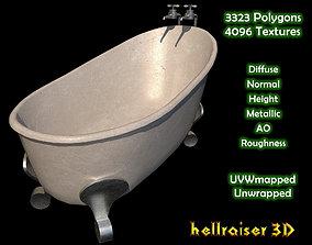 Bathtub - Textured 3D model