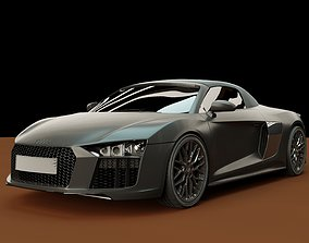 3D model Audi r8 High polygon sports car