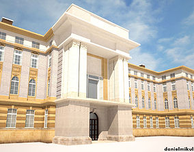 3D Neoclassical Building 164