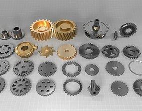 3D model 30 gears