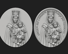 3D print model Virgen del Carmen Medallion Set