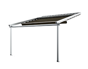 Motorized Pergola 5 chrome matte 3D model