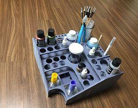 Acrylic paint corner stand 3D print model