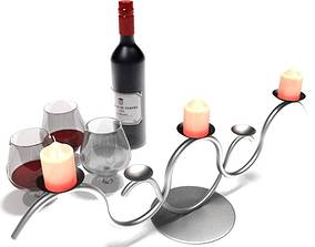 3D model Modern Silver Candle Holder