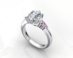 3D print model Engagement Diamond Solitaire Ring CAD
