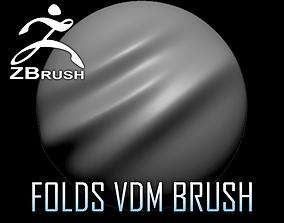 Folds VDM Brush for ZBrush 3D model