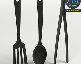 3D Three kitchen tools set