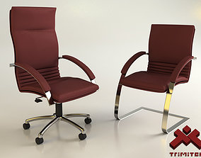 Office Chairs set 3D