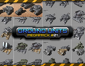 3D SF Ground Units Megapack 01