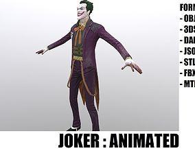 Joker 3D asset animated