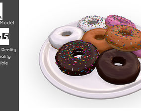 realtime Donut Photo realistic Low poly 3D model VR AR 2