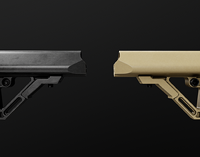 UTG Combat Ops S1 AR15 Collapsible Buttstock 3D asset