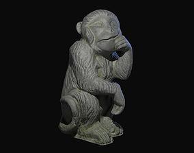 Monkey Statue 3D model exterior
