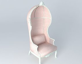 3D Pink Baby Carriage Armchair