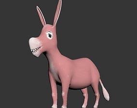 Cartoon Donkey 3D asset realtime
