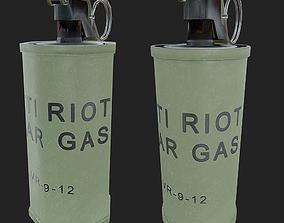 3D asset Tear Gas Grenade PBR Game Ready