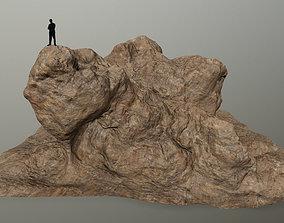 stone desert rocks 3D model realtime