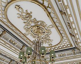 3D model classic ceiling