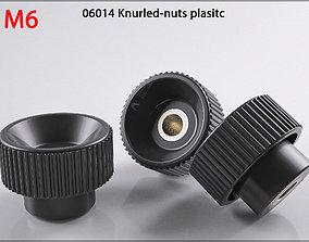 3D nuts M6 06014-11250624 Raendelschrauben Knurled print