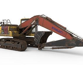 3D Excavator Komatsu PC 210