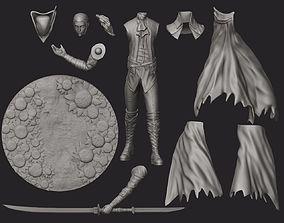 Lady Maria Bloodborne figure 35mm 3D printable model