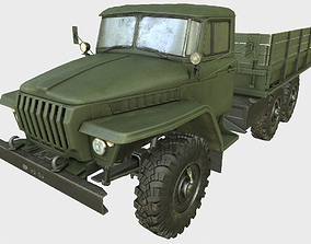 Ural 375 Truck 3D model