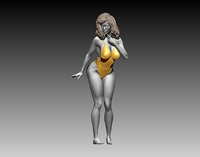 Woman body figure stands poses 3D print 3D model